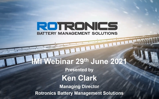 Rotronics Partner with the IMI for a Battery Management Webinar